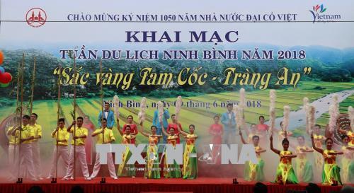 """Khai mạc Tuần Du lịch Ninh Bình """"Sắc vàng Tam Cốc - Tràng An"""""""