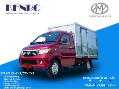 Xe tải kenbo thùng tôn kín 900kg